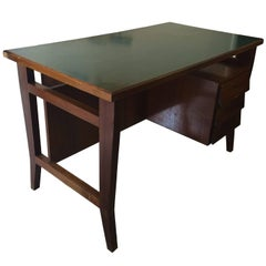 Gio Ponti Midcentury Wood Desk with Laminated Top for Schirolli, circa 1950
