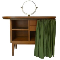 Gio Ponti Midcentury Mahogany Wood Italian Dressing Table, 1960s