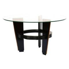 Vittorio Valabrega Art Deco Birch and Mahogany Italian Coffee Table, 1930