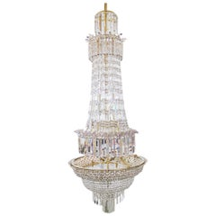 19th Century English Crystal Cut Glass Chandelier