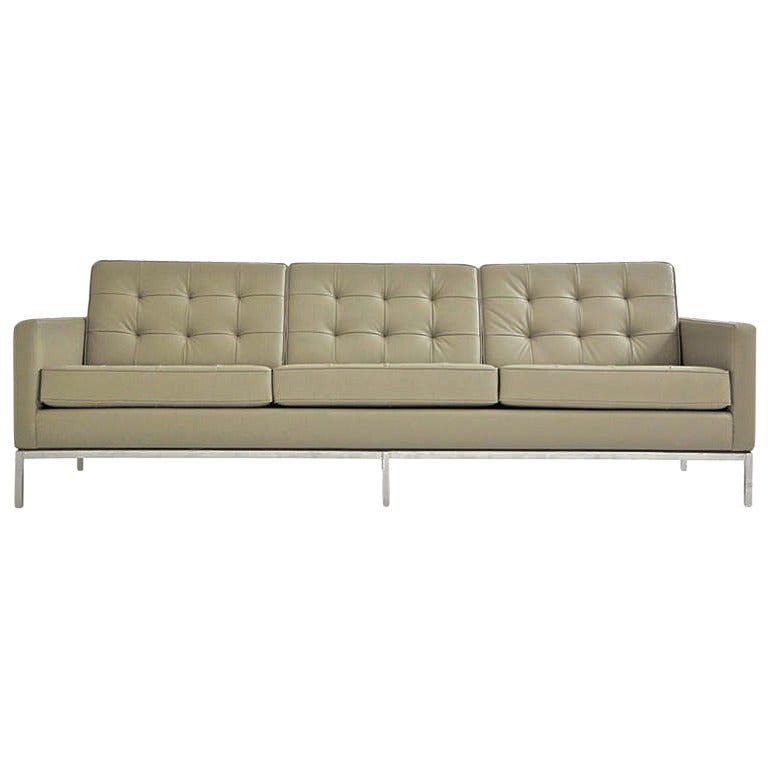 Florence Knoll Three Seat Sofa For Knoll International For Sale At 1stdibs