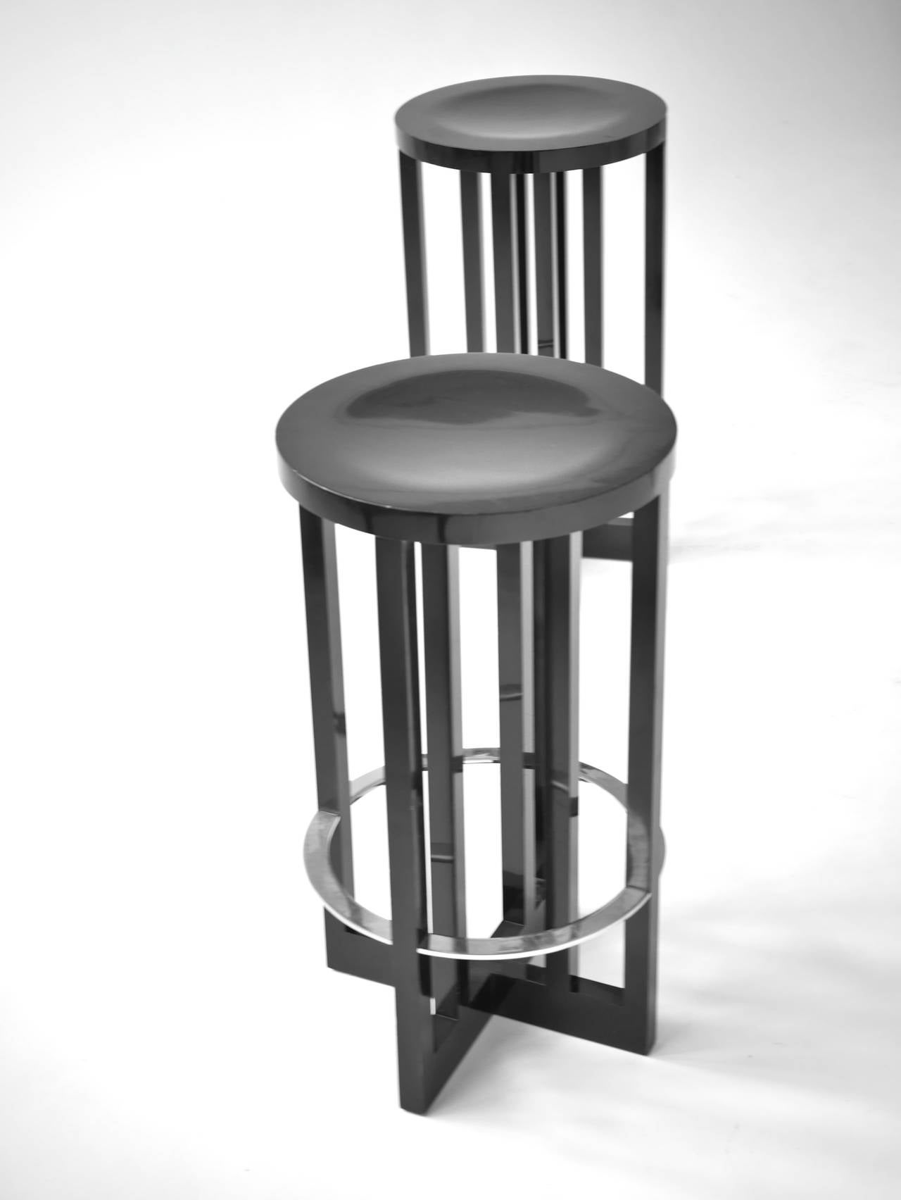 Pair Of Richard Meier High Stools For Knoll For Sale At
