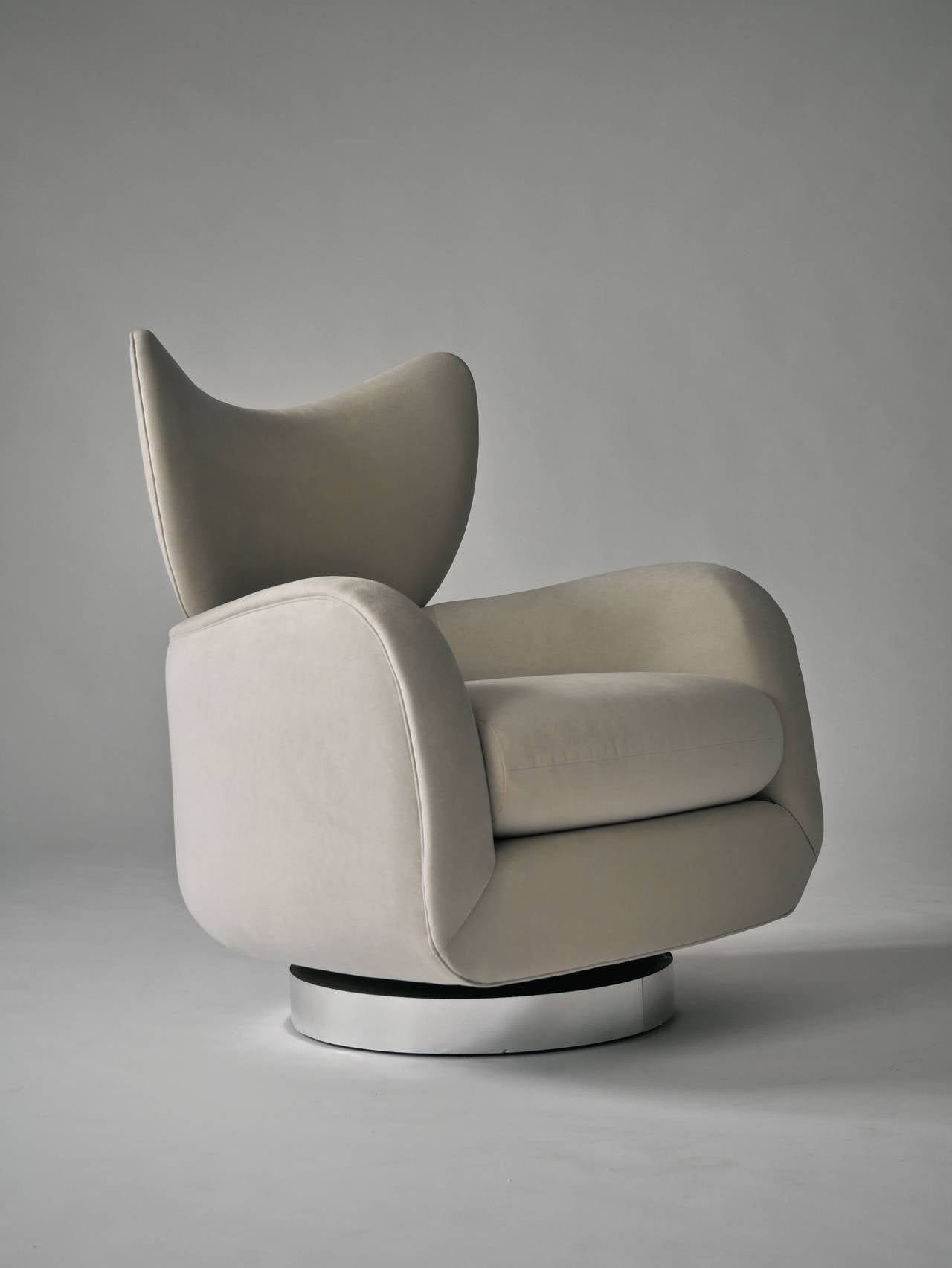 Vladimir Kagan Swivel Lounge Chair and Ottoman 7