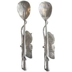 Pair of Claude Lalanne Sterling Silver Spoons