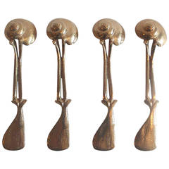 Set of Four Gilt Bronze Spoons by Claude Lalanne for Artcurial