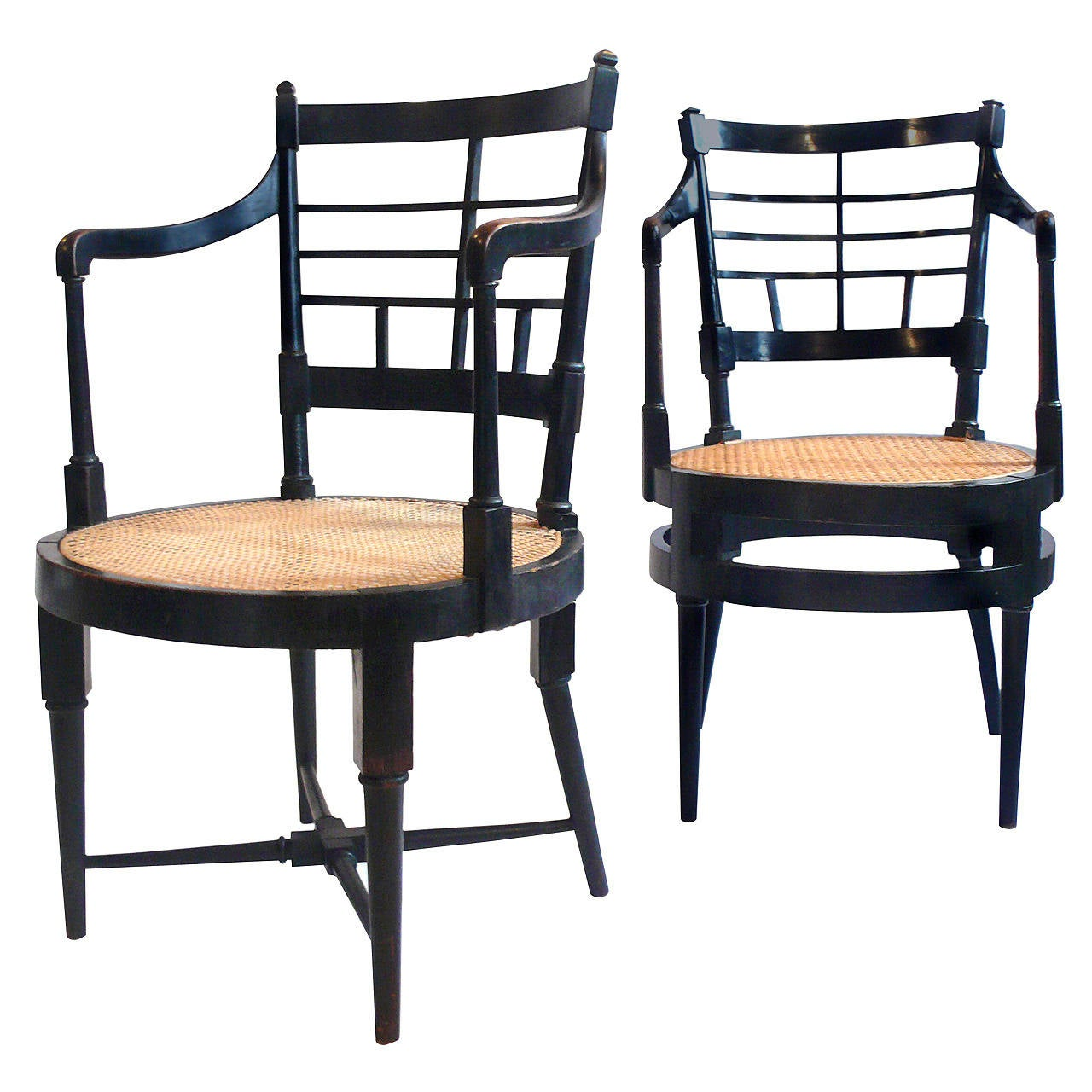 A E Furniture: Pair Of Edward William Godwin Armchairs For Sale At 1stdibs
