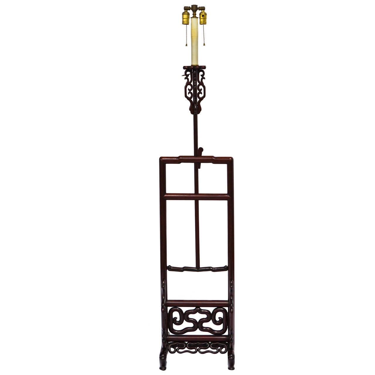 chinese export adjustable height floor lamp for sale at 1stdibs. Black Bedroom Furniture Sets. Home Design Ideas