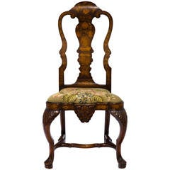 1920s Dutch Marquetry Side Chair