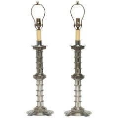 Machine Age Cast Aluminum Lamps