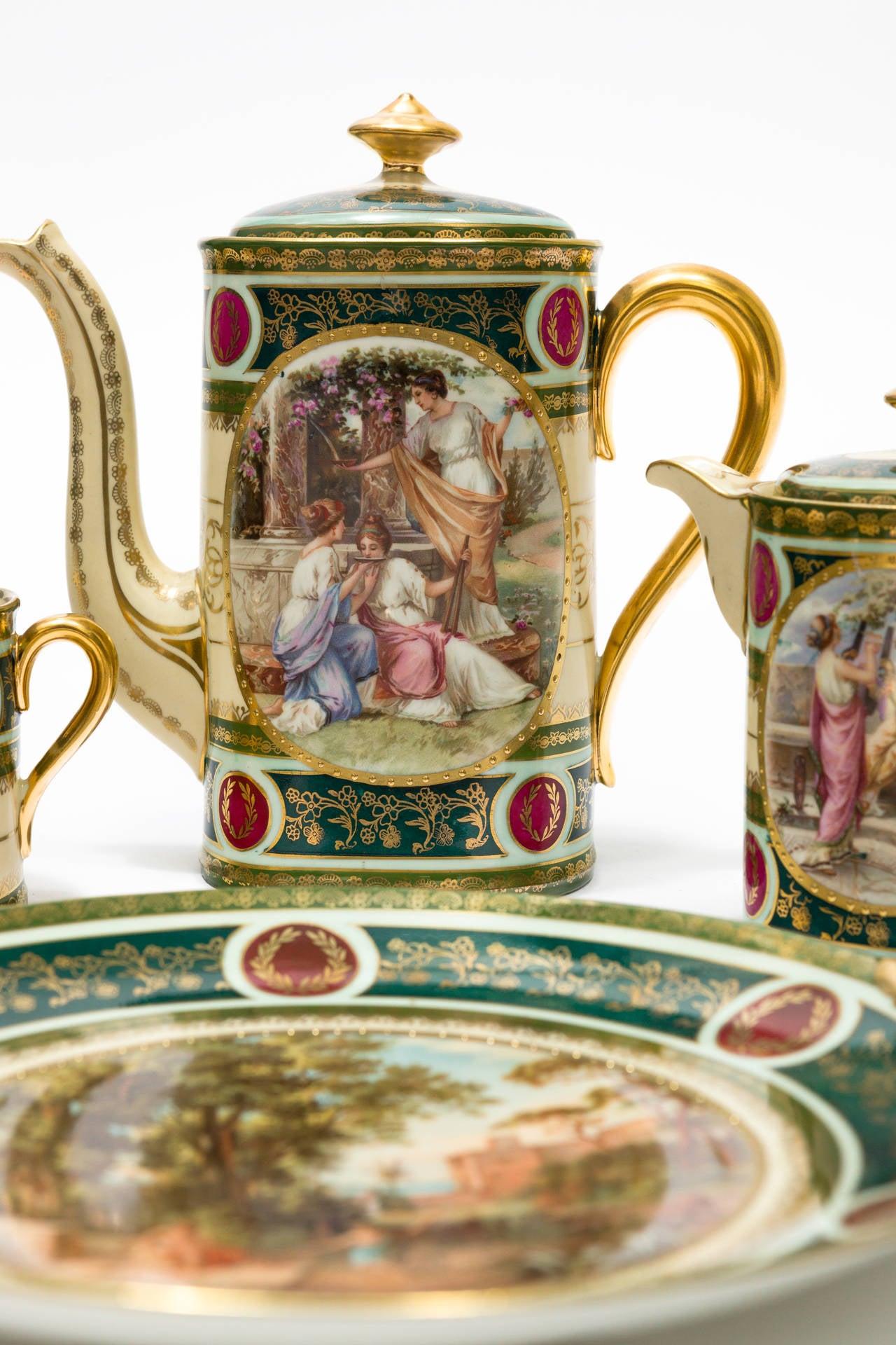 Antique Kerag Karlsbad Czech Tea Dessert Pieces At 1stdibs