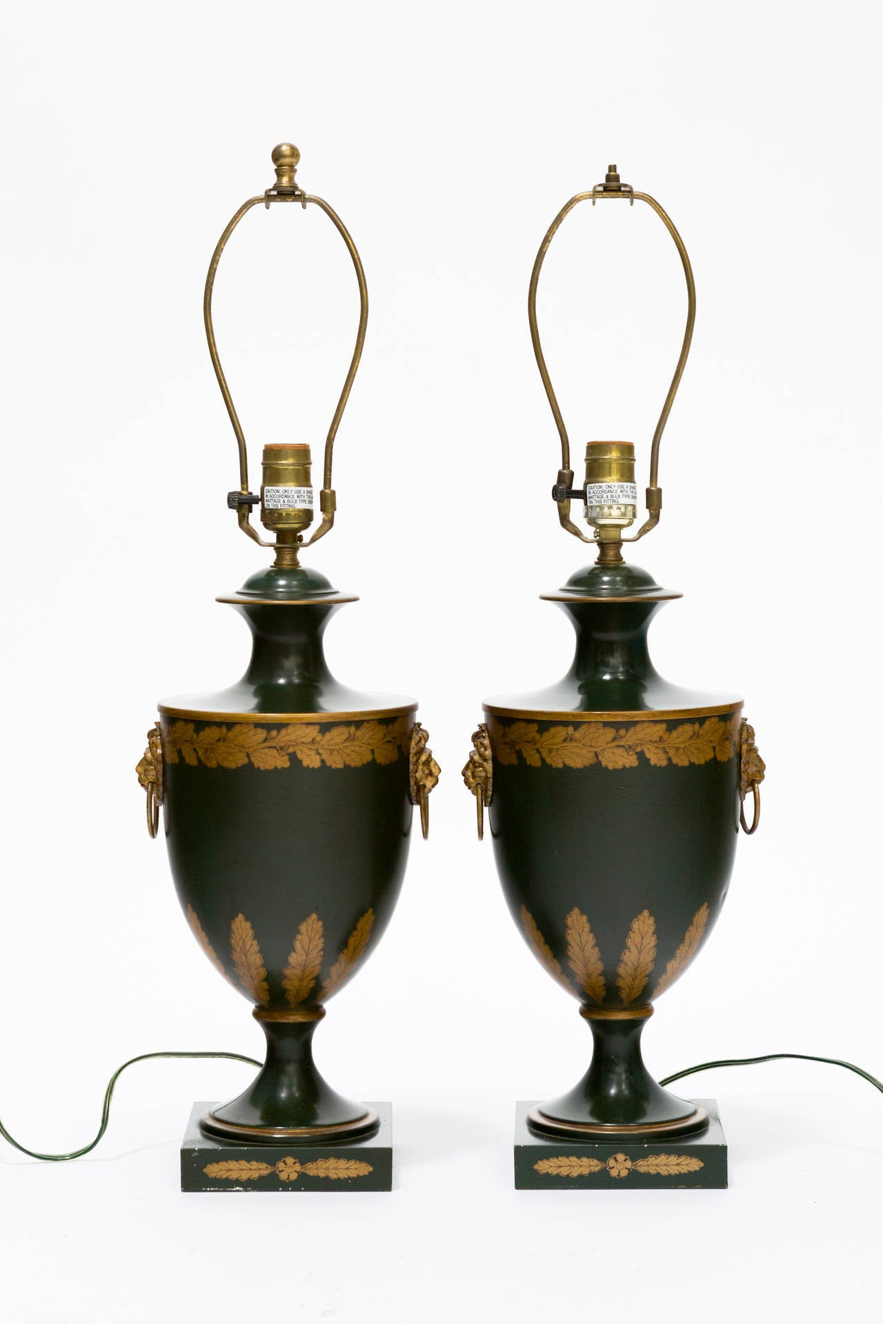 this pair of tole urn table lamps by vaughn is no longer available. Black Bedroom Furniture Sets. Home Design Ideas