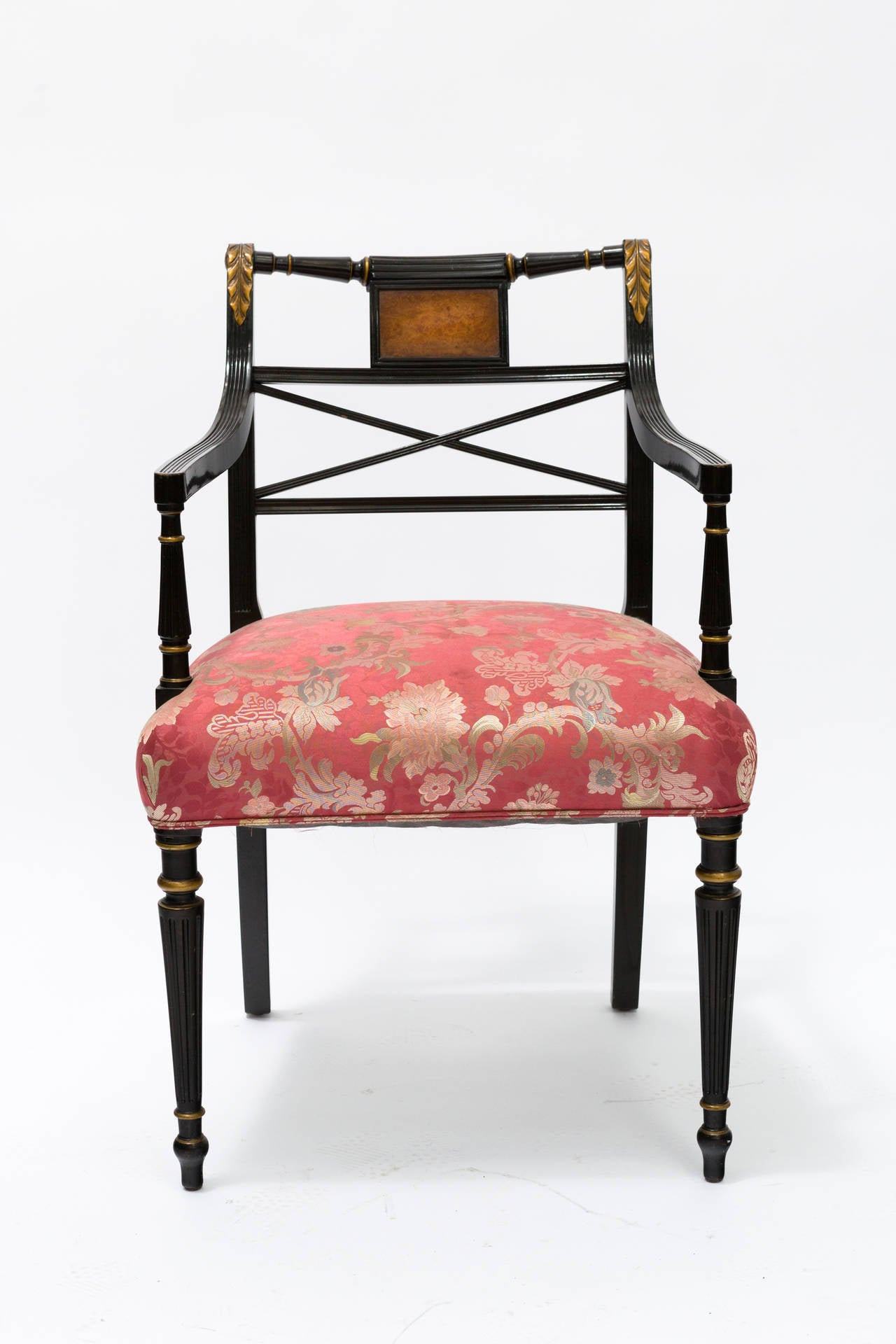 8 Painted Regency Style Dining Chairs At 1stdibs