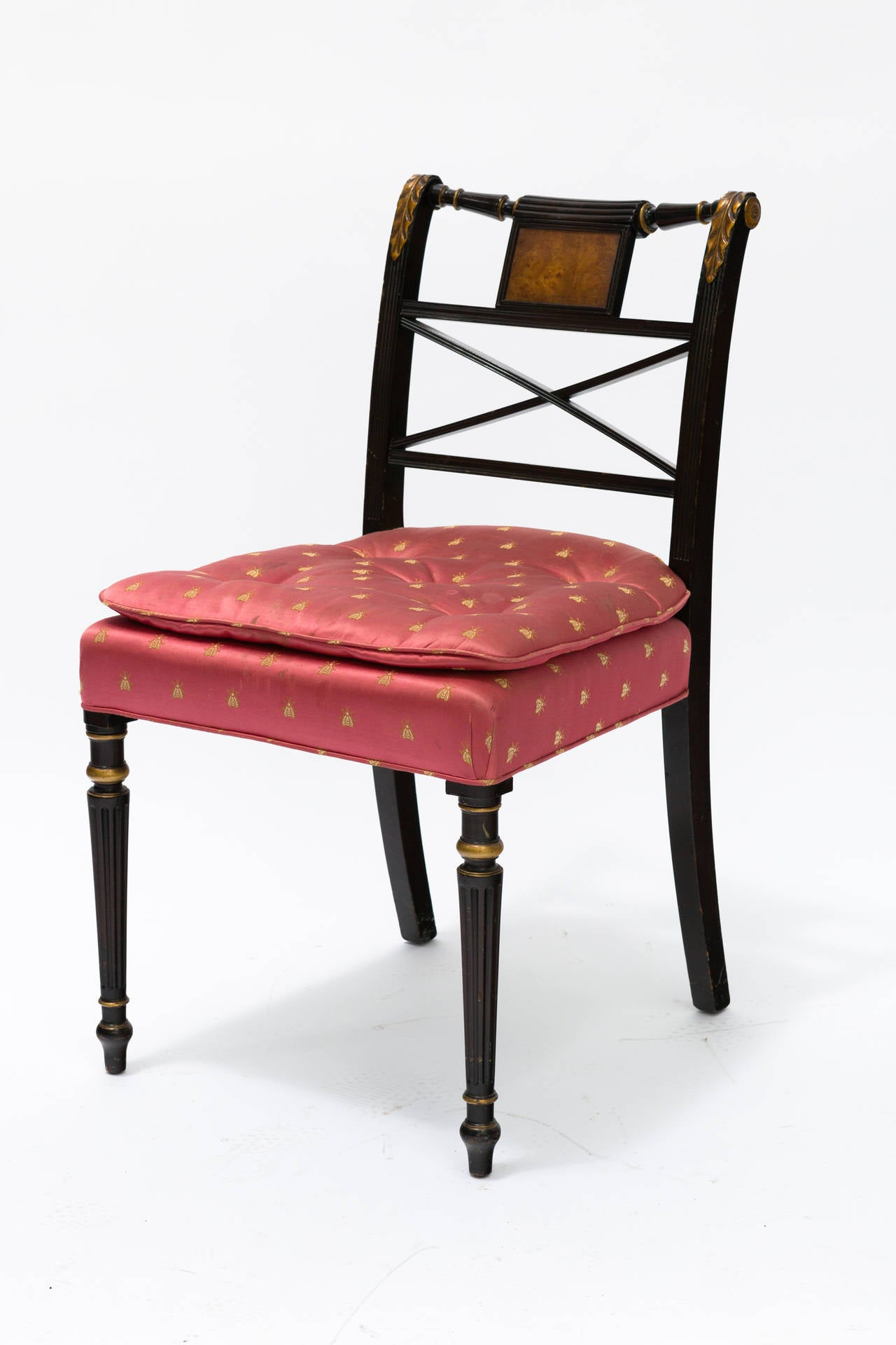 Painted regency style dining chairs at stdibs