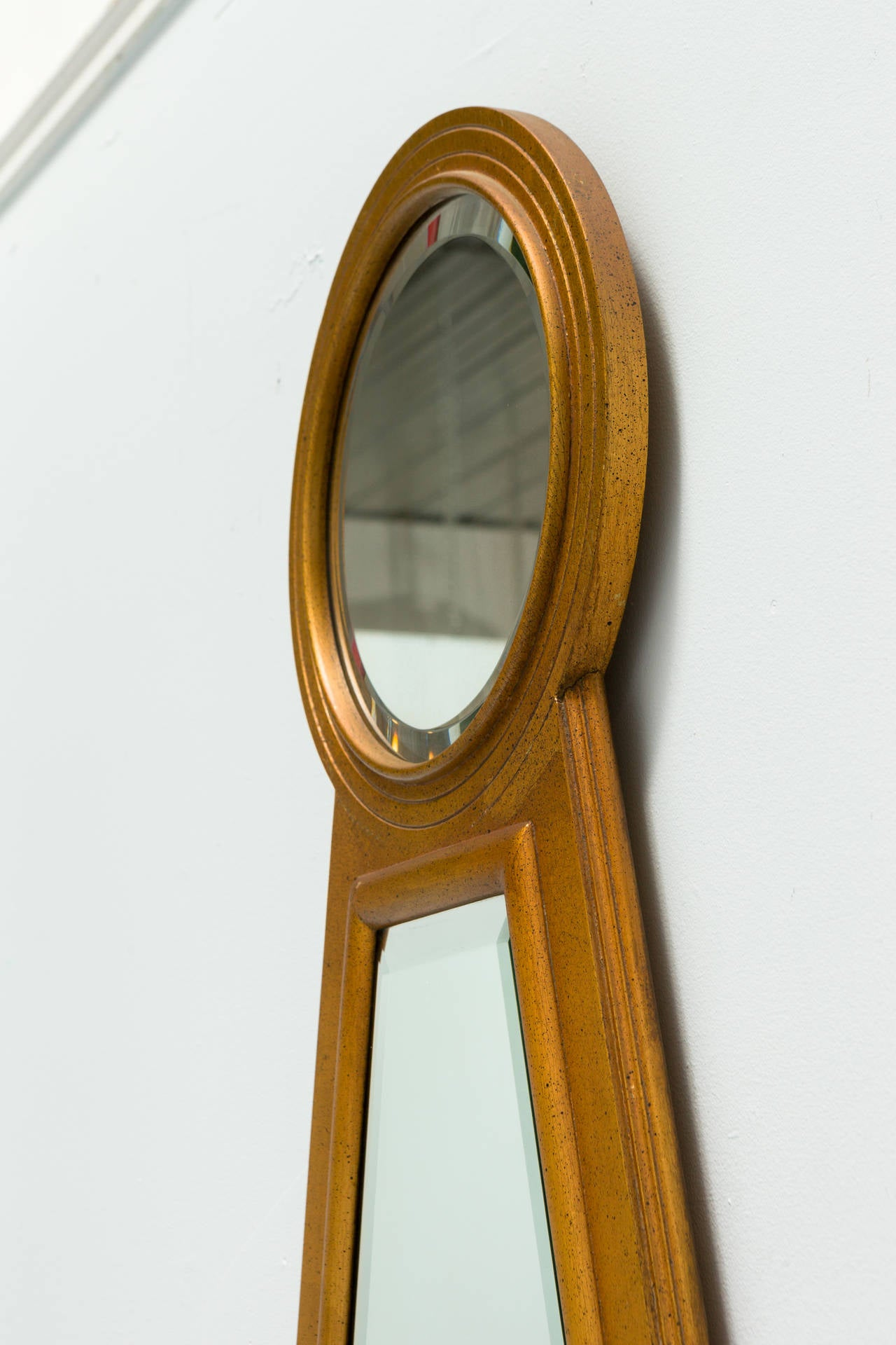 Keyhole gilt wood beveled mirror at 1stdibs for What is a gilt mirror