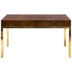 Tomlinson Burled Desk on Brass Base