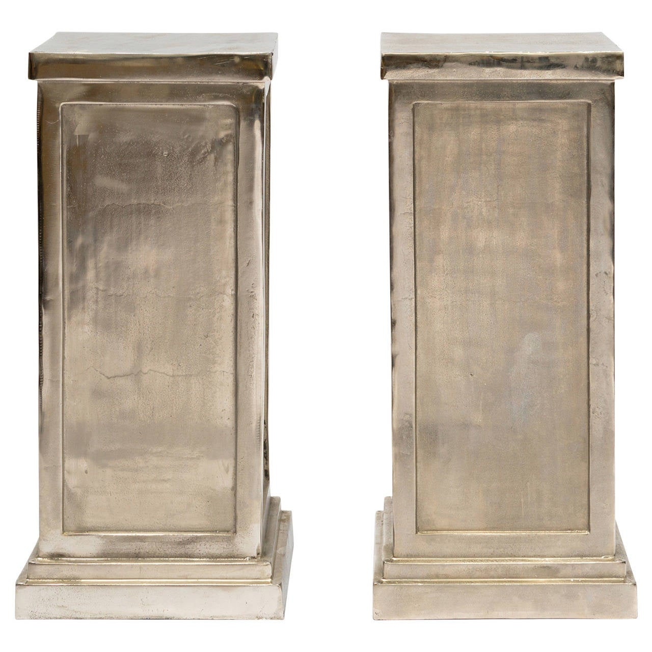 Pair of Metal Alloy Pedestals