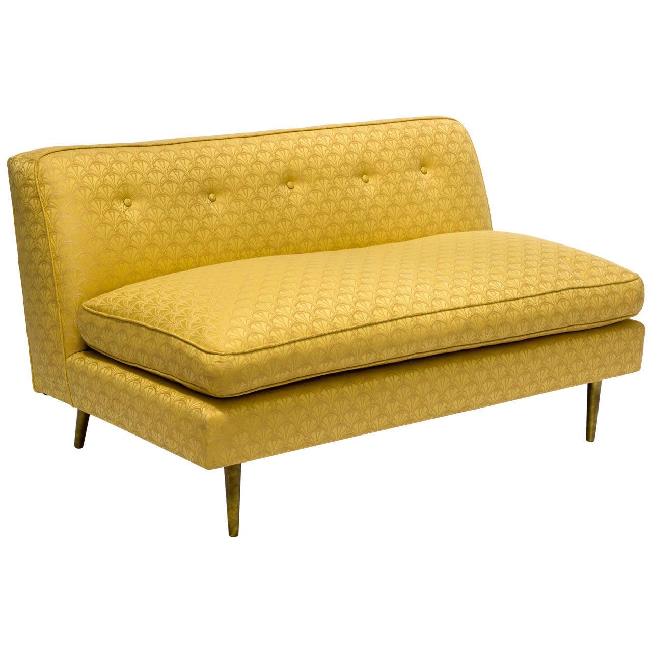 Mid Century Modern Dunbar Style Loveseat Sofa At 1stdibs