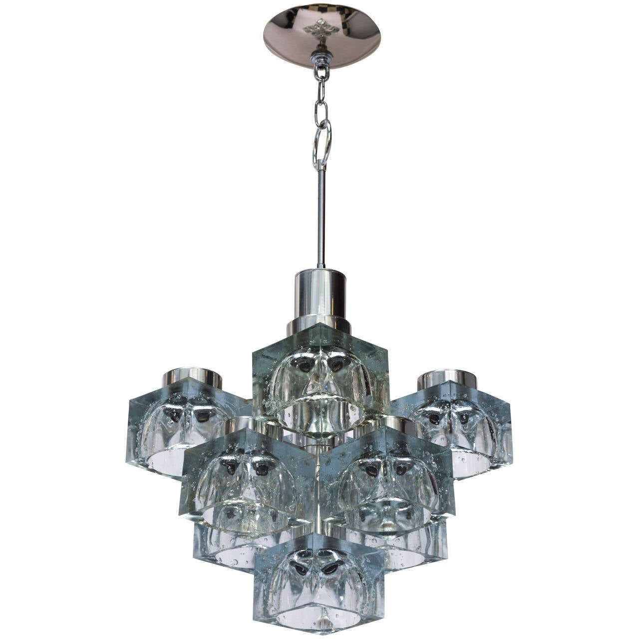 Gaetano Sciolari Ice Cube Chandelier for Lightolier