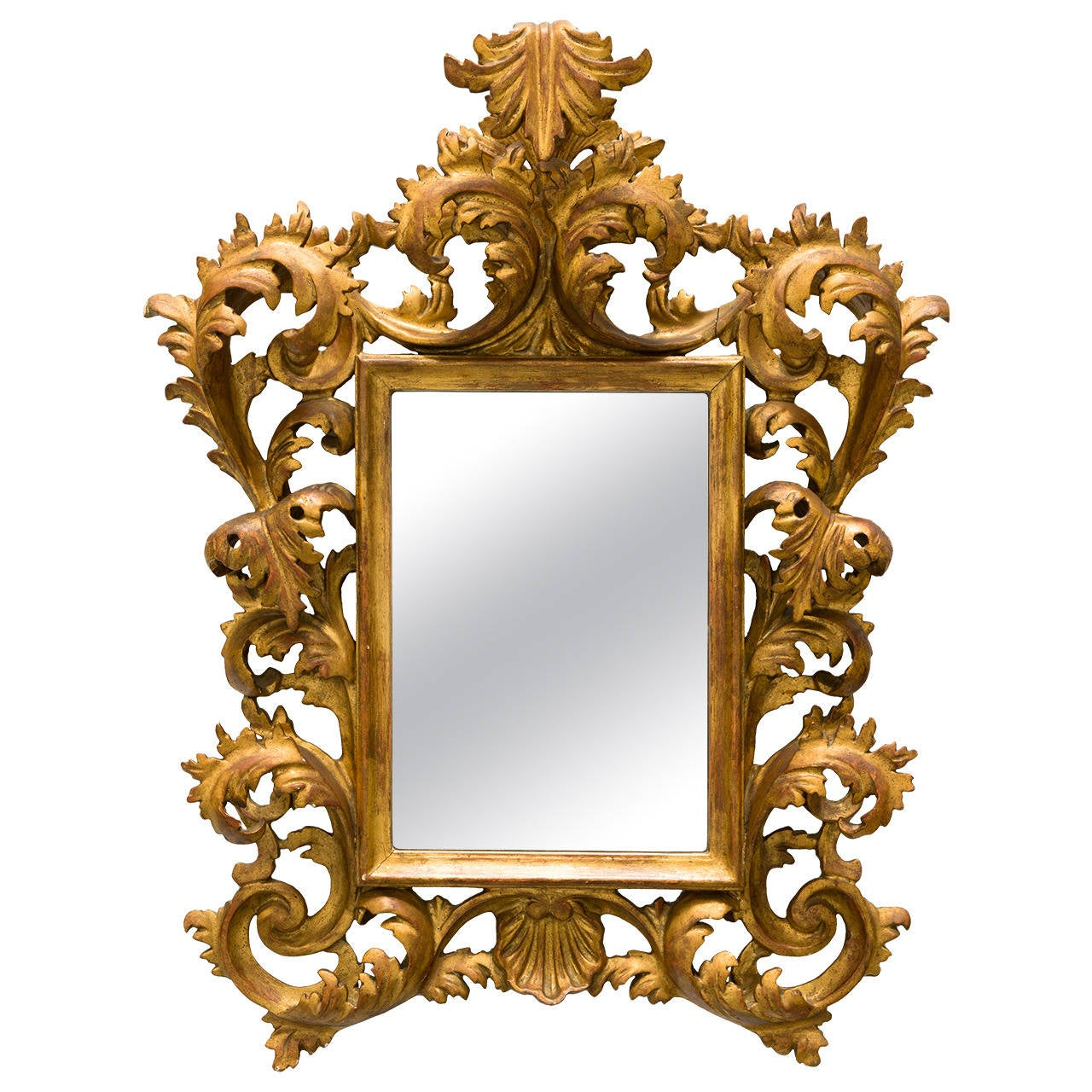 french giltwood rococo style wall mirror for sale at 1stdibs