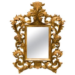 French Giltwood Rococo Style Wall Mirror