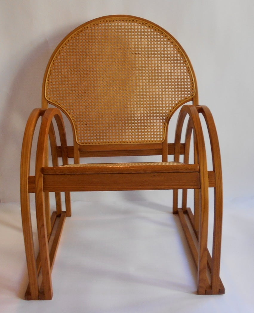 Art deco style lounge chair by vermont tubbs at 1stdibs for Art deco style lounge