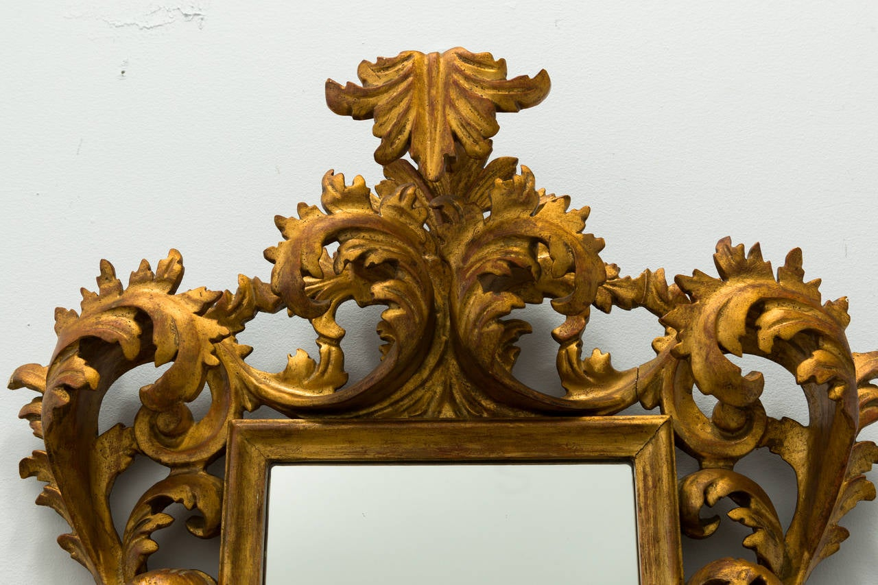 French giltwood rococo style wall mirror for sale at 1stdibs for French rococo style