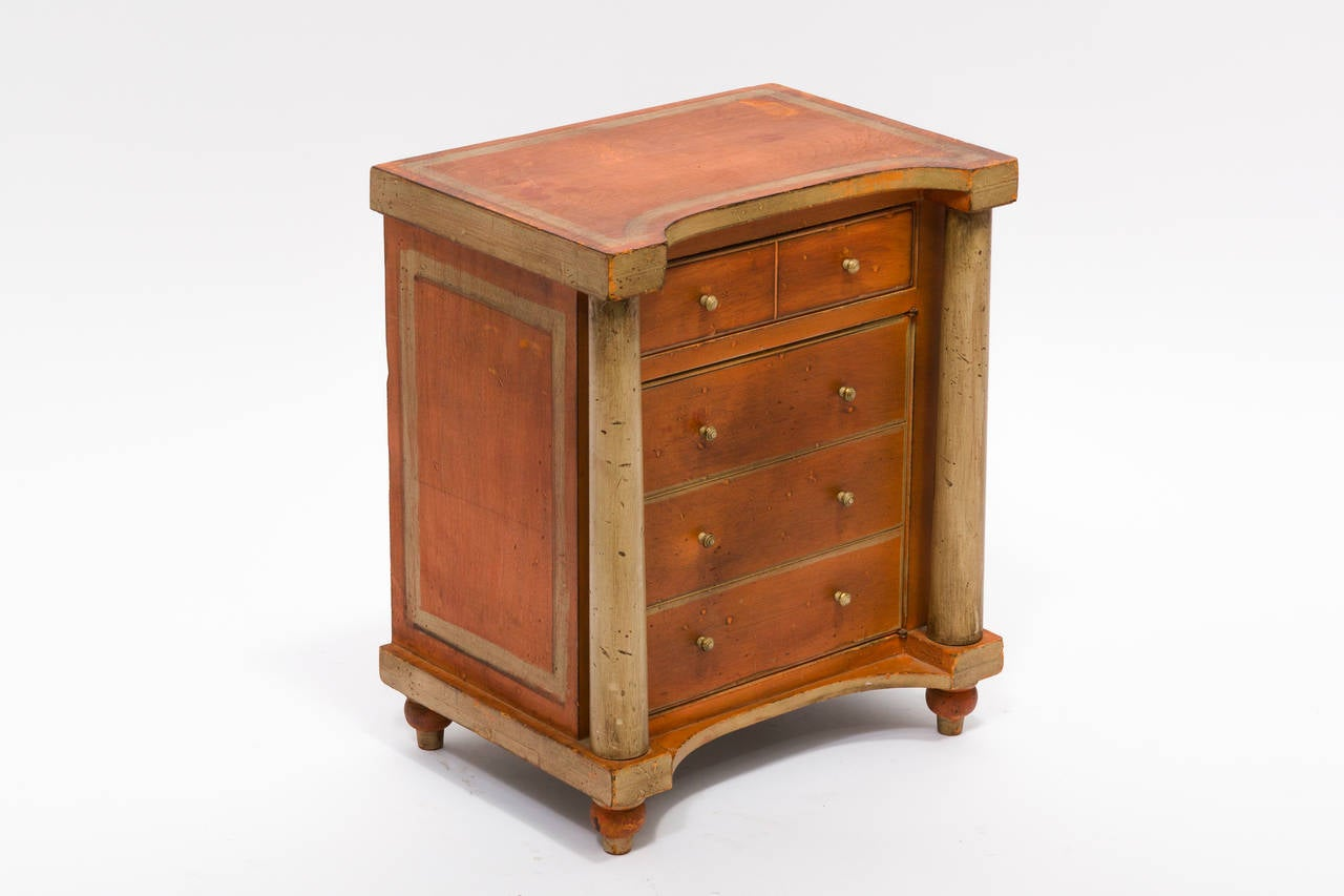 Italian painted miniature cabinet at 1stdibs for Italian painted furniture