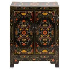 Asian Hand Painted Cabinet