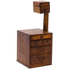 Antique Japanese Wood Trinket/Sewing Box