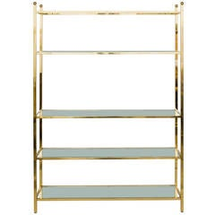 Oversized Brass Etagere