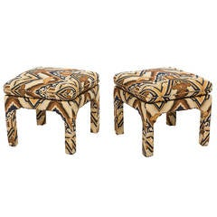 Pair of Upholstered Ottomans