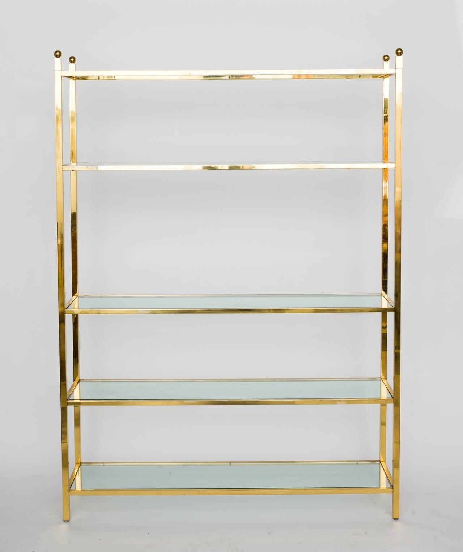 oversized brass etagere for sale at 1stdibs. Black Bedroom Furniture Sets. Home Design Ideas