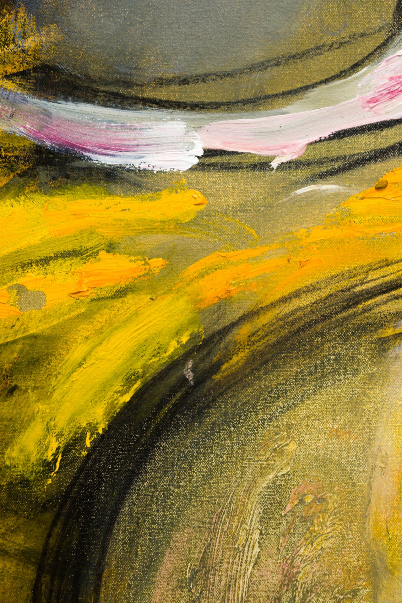 Large Yellow Abstract Painting For Sale at 1stdibsYellow Abstract Painting
