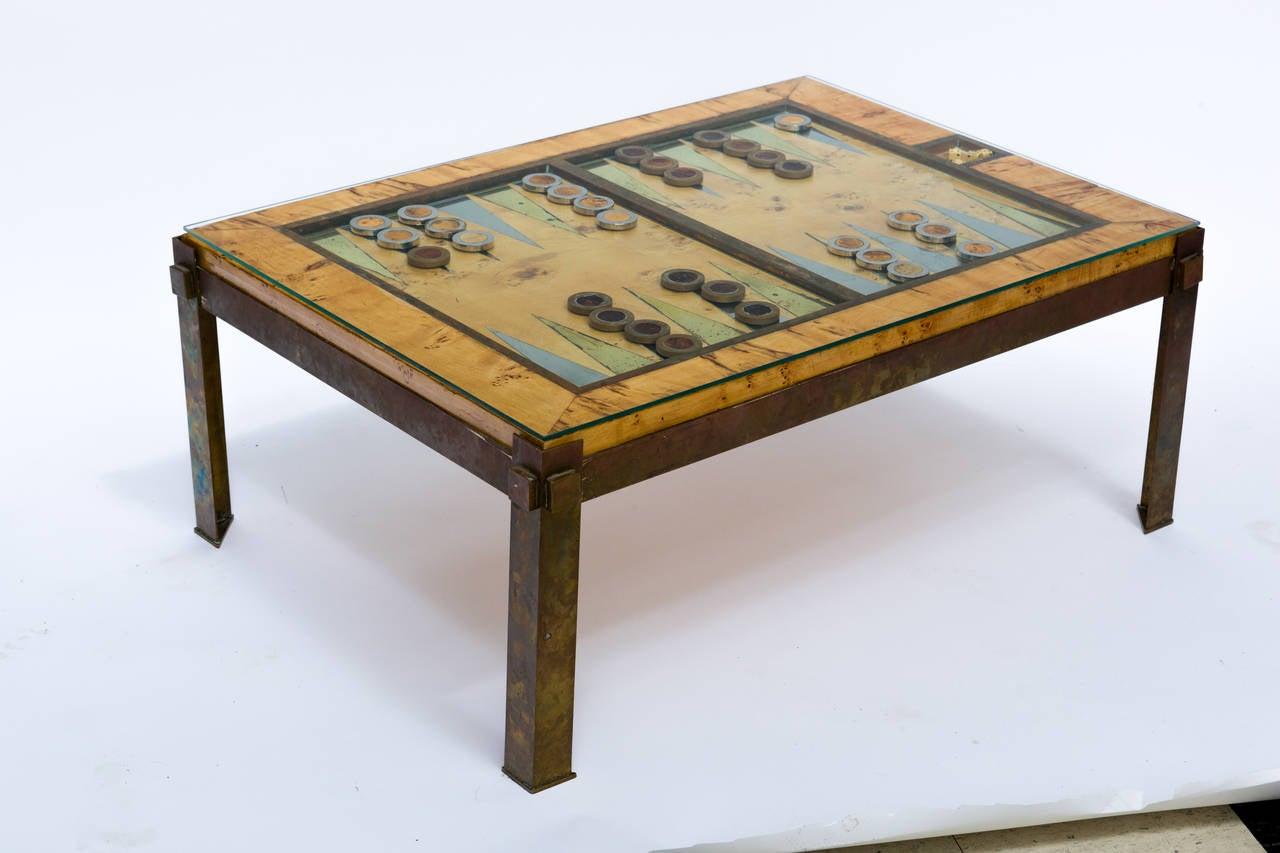 tommaso barbi backgammon table at 1stdibs. Black Bedroom Furniture Sets. Home Design Ideas