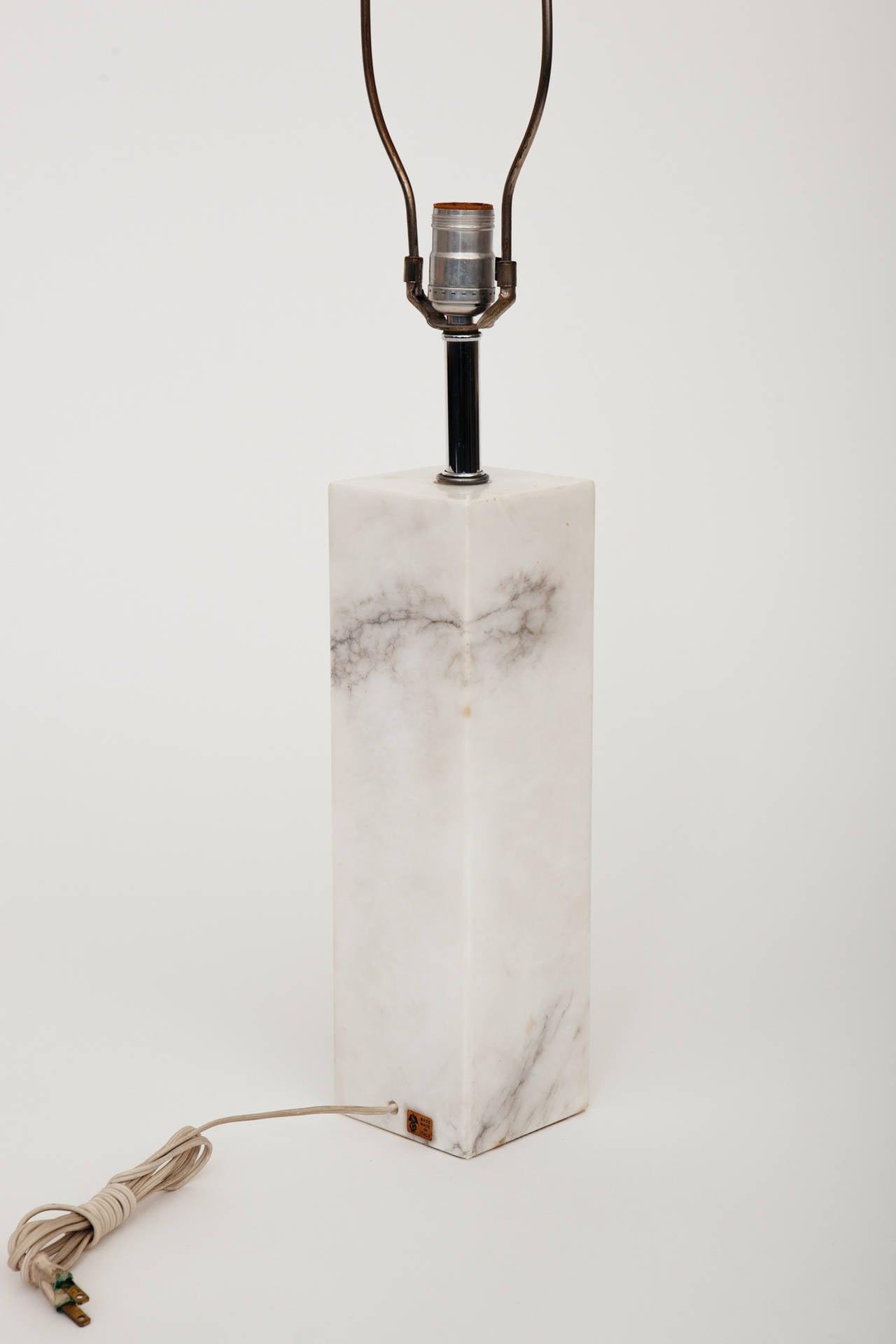 20th Century Marble Lamp in the Manner of T.H. Robsjohn-Gibbings For Sale