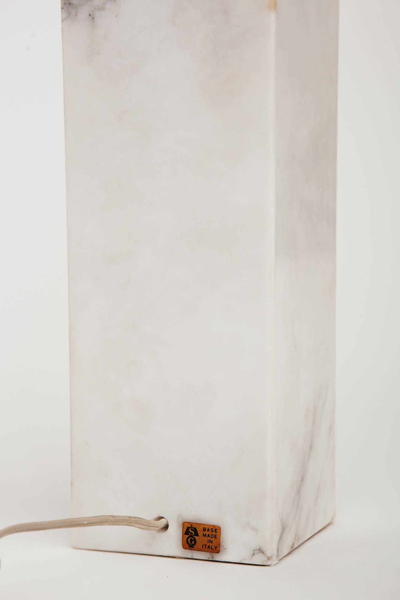 Marble Lamp in the Manner of T.H. Robsjohn-Gibbings For Sale 1