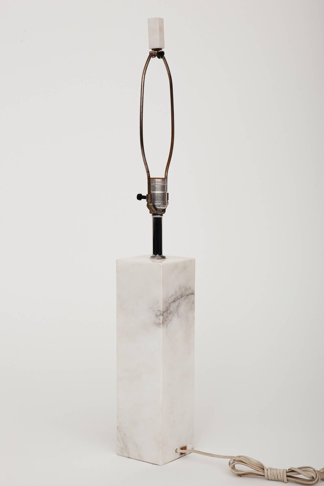 Marble Lamp in the Manner of T.H. Robsjohn-Gibbings For Sale 2