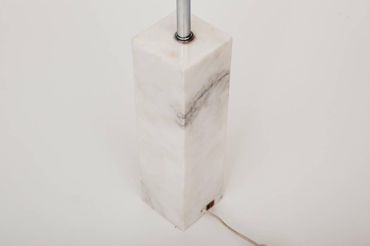 Marble Lamp in the Manner of T.H. Robsjohn-Gibbings For Sale 3