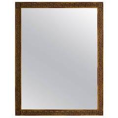 Wood Greek Key Mirror