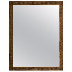 Wood Gold Finish  Greek Key Mirror