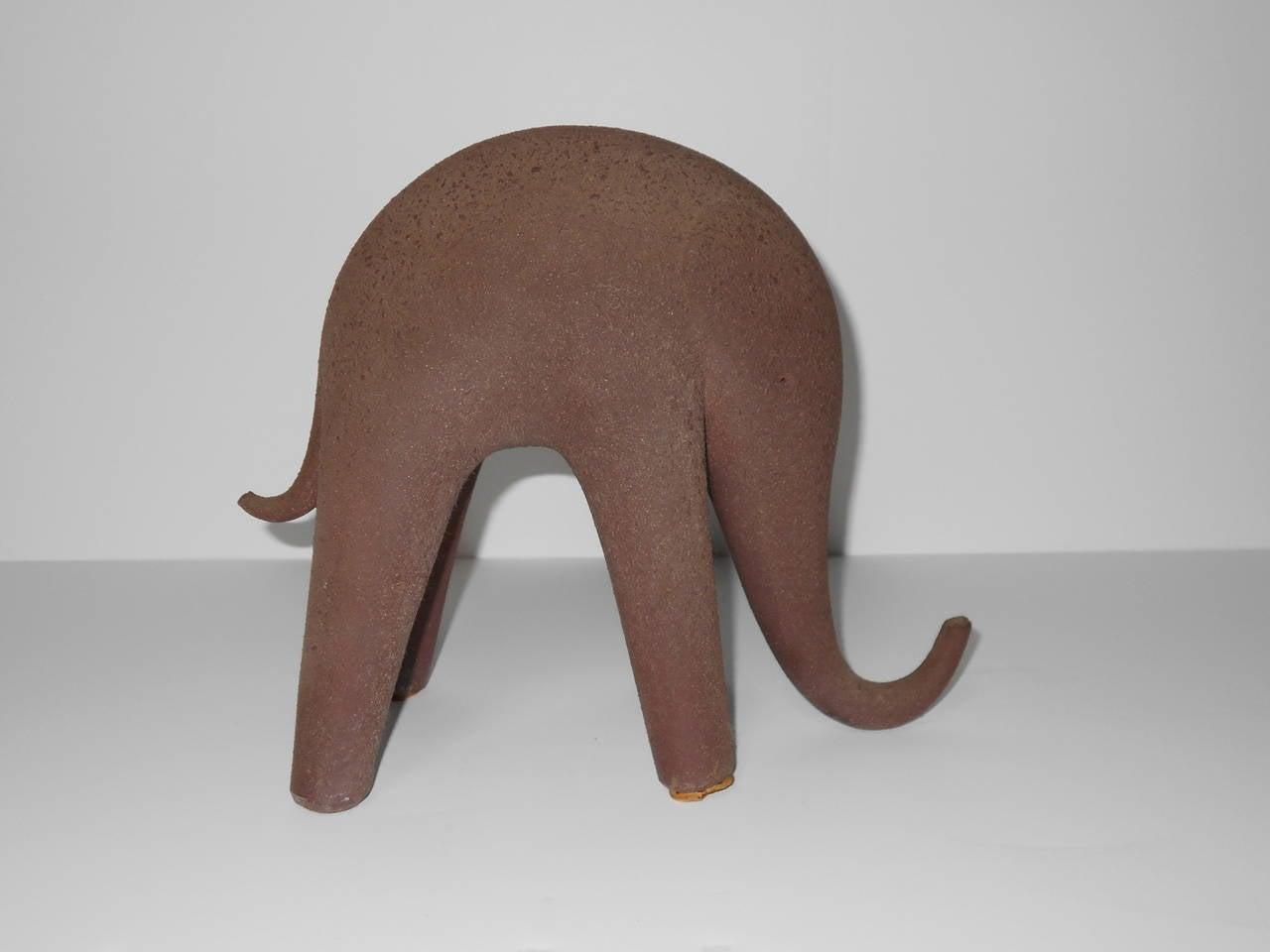 french art deco ceramic elephant sculpture at 1stdibs. Black Bedroom Furniture Sets. Home Design Ideas