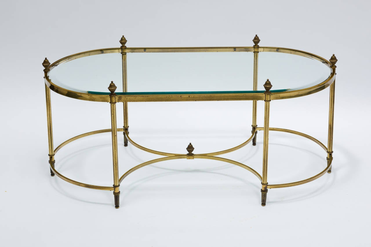 Regency Style Brass And Glass Top Coffee Table At 1stdibs