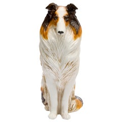 Ceramic Life Size Collie Dog