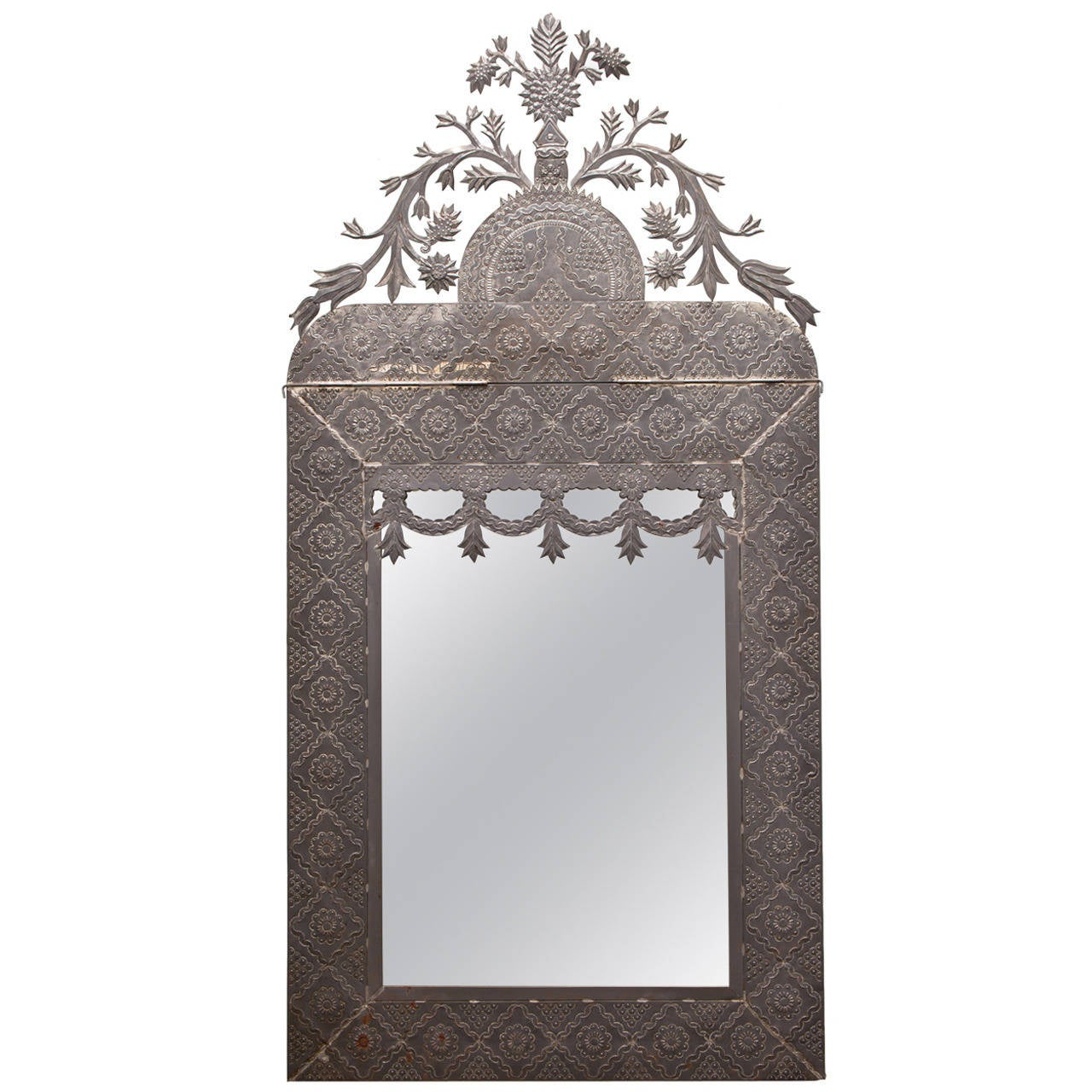 Mexican Tin Mirror For