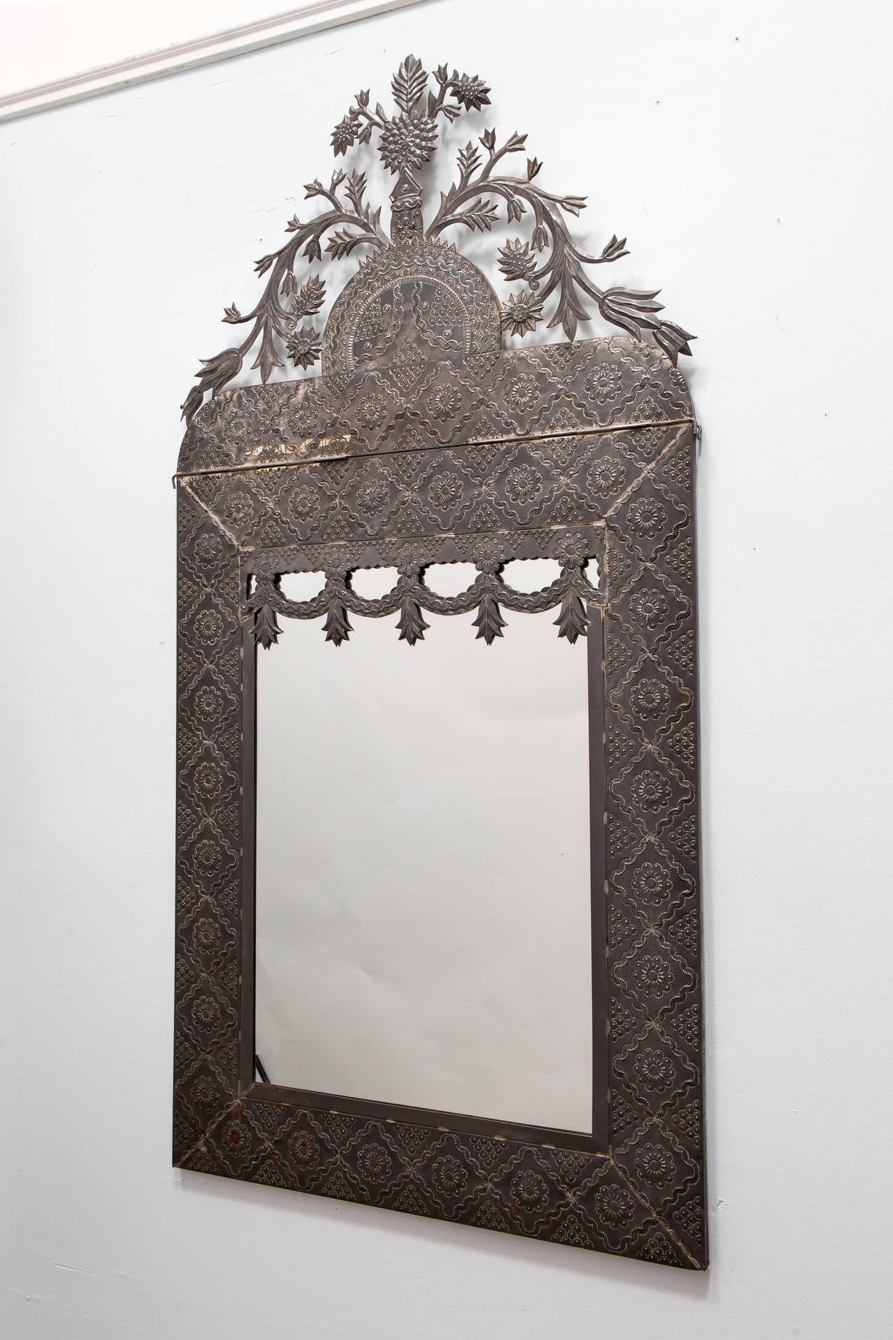Mexican Tin Mirror At 1stdibs
