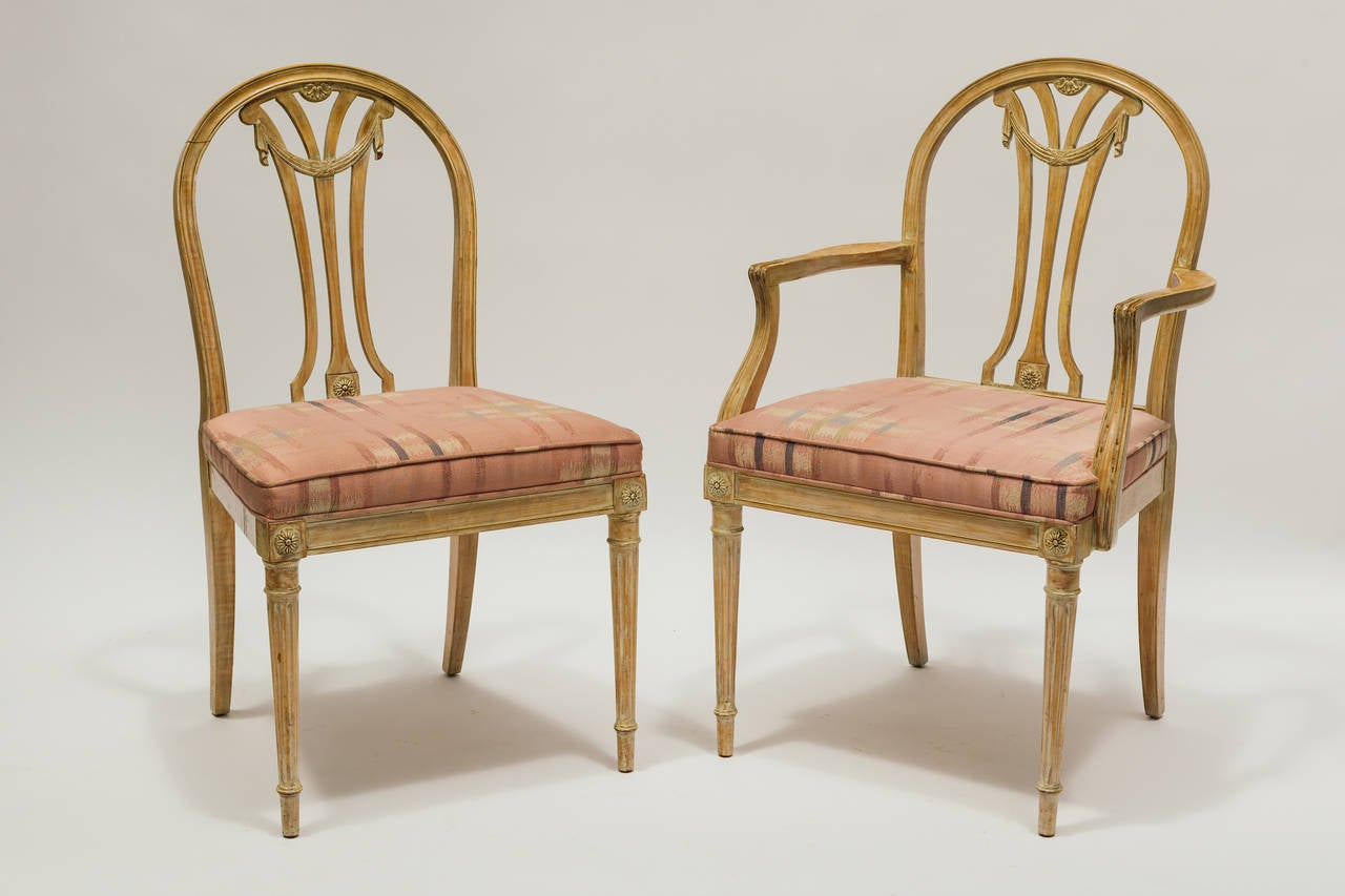 Set of six french style dining chairs at 1stdibs for French style dining room furniture