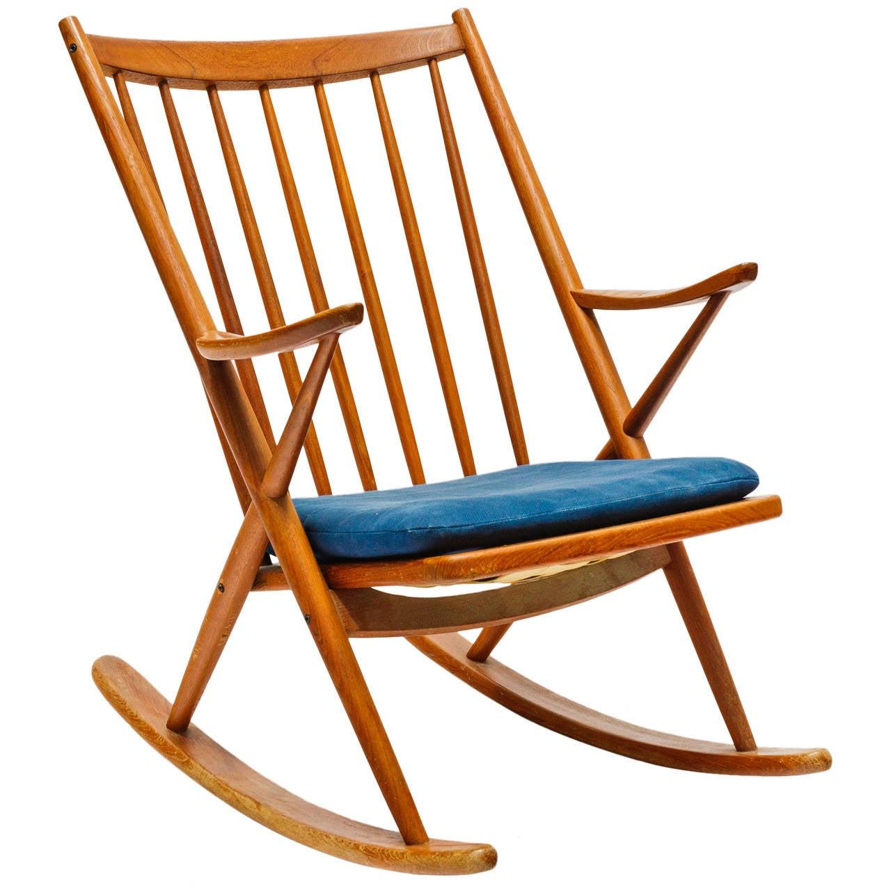 Frank reenskaug rocking chair - Frank Reenskaug Rocking Chair For Bramin 1