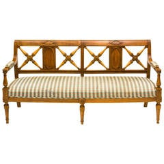 Spindle Back Painted Canadian Bench At 1stdibs