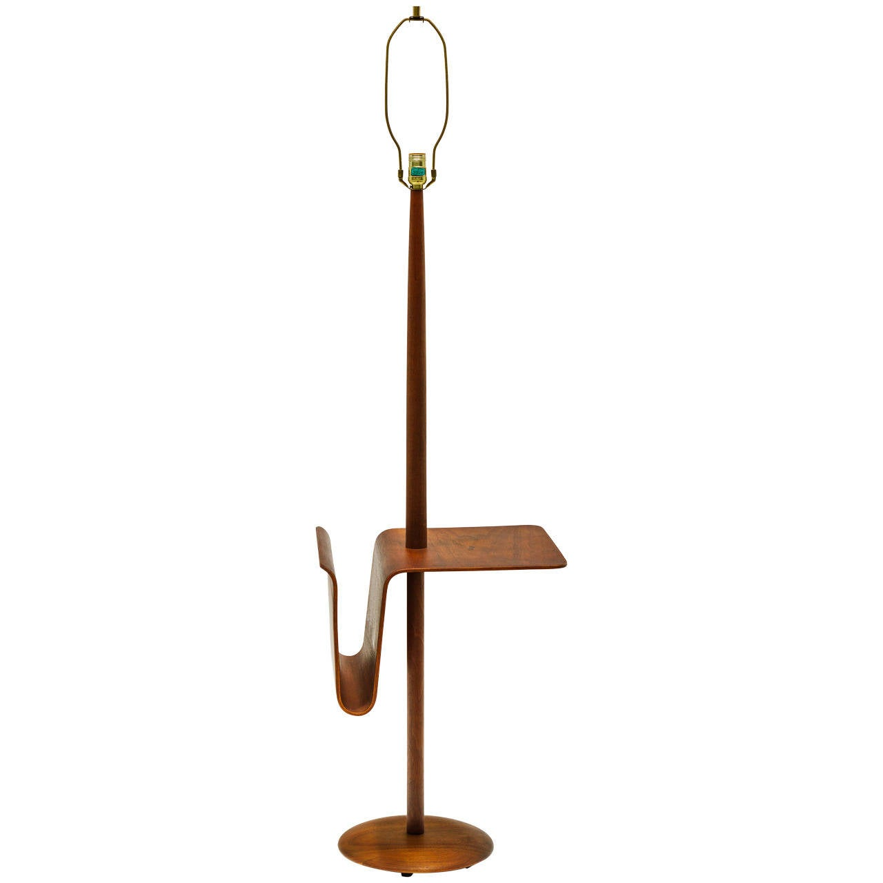 Danish Modern Teak Floor Lamp By Laurel Lamp Co At 1stdibs