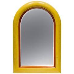 1970s Wood Wall Mirror